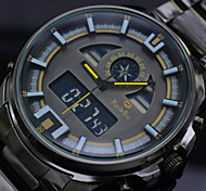 Men's LED Digital Wrist Watches Black Full Steel Dive Sports Watch Quartz Clock Man (Assorted Colors)