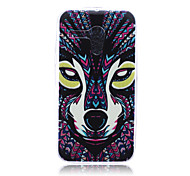 Wolf Pattern TPU Soft Back Cover Case for  Motorola Moto G