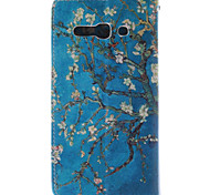 disegno albicocca fiore pu custodia in pelle con chiusura magnetica e slot per schede per Alcatel One Touch pop c9