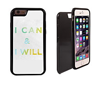 I Can and I Will Design 2 in 1 Hybrid Armor Full-Body Dual Layer Shock-Protector Slim Case for iPhone 6 Plus