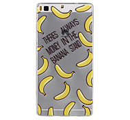 Banana Pattern TPU Soft Case for Huawei Ascend P8