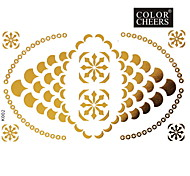 1Pc Gold and Black Long Bracelet Tattoo Sticker 15x9CM