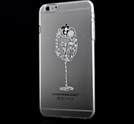 motif de verre transparent impression matériau mince de PC Phone pour iPhone 6
