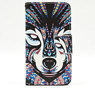 Wolf Muster der Inneren gemalt Karten Fall für Samsung Galaxy Note 4