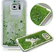 karzea ™ Dual-Layer-Kunststoff-3D-fließenden Flüssigkeit LuxuxBling Glitter Stars Fall für Samsung-s6 g9200 (verschiedene Farben)