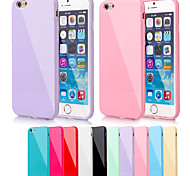 BIG D Silica Gel Soft Back Cover for iPhone 6(Assorted Color)