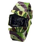 Men's Watch LED Lights Display Camouflage Design