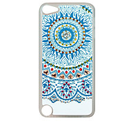 Blue Sun Pattern Rhinestone Jewelry Hard Case for Ipod touch 5