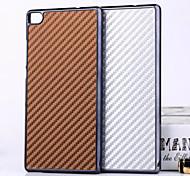 el caso trasero duro diseño de fibra de carbono para p8 huawei