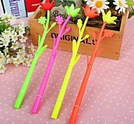 Datura Flower Style Gel Pen (Random Color)