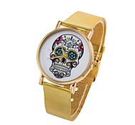 cadran rond crâne Boîtier en alliage montre quartz marque de mode des femmes montre (plus de couleurs disponibles)