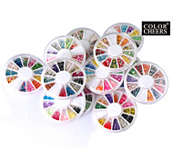 12 PCS Nail Art Fimo Slice Decal Pieces Wheel