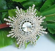 Wedding Accessories Gold-tone Clear Rhinestone Crystal Bridal Brooch Wedding Deco Flower Wedding Brooch Bridal Bouquet