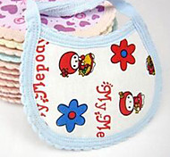 New Baby Textile Cotton Cleaning Bib (Random Pattern)