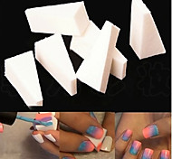 8PCS Triangle White Manicure Sponge Nail Art Stamper Stamping Sponge Gradient Color DIY Tools for Nail Design