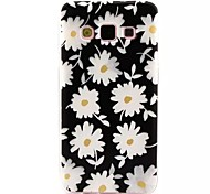 White Flowers Pattern TPU Soft Cover  for Samsung Galaxy A3