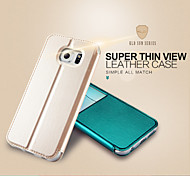 KALAIDENG Sun Series Super Thin View Leather Case for Galaxy S6 edge