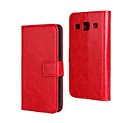 For Samsung Galaxy Case with Stand / Flip Case Full Body Case Solid Color PU Leather Samsung Core Plus