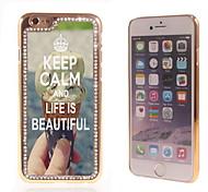 behalten Sie Ruhe und das Leben ist schön Design Luxus-Hybrid-Bling Funkeln-Schein mit Kristallrhinestone-Kasten für iPhone 6