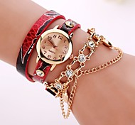 Fashion Leather Strap Watches Chain Rivet Bracelet Women Dress Watch Wristwatches Casual Gift Girl Lady
