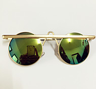 Sunglasses Men / Women / Unisex's Retro/Vintage / Modern / Fashion Round Gold Sunglasses Full-Rim