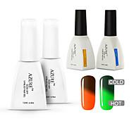 azur 4 pièces / lot tremper hors changement de couleur a conduit gel des ongles gel ongles gel de couleur manucure d'art uv (# 44 + # 48 +