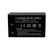 1750mAh bateria da câmera para kodak KLIC-5001 / Sanyo db-l50