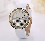 pulseira de couro moda relógios pulseira cadeia de rebite mulheres se vestem Relógios de pulso presente ocasional menina senhora