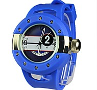Unisex Screw Dial  Hollow Band Calendar Water Resistant Feature Sport Watch(Assorted Colors)