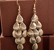 Ms Frosted Multi-Level Small Water Droplets Scales Leisure Earrings Foreign Trade Hot Style Of Earring
