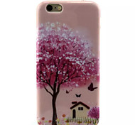 Cover Back Case Pink House TPU Soft Case Special Design for iPhone 6/6S