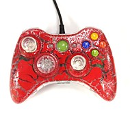 nuovo usb cablato controllore gamepad joystick per Xbox 360& sottile 360e& PC Windows crackle rosso