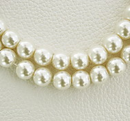 Beadia 3 Str(approx 580pcs) Fashion 4mm Round Glass Pearl Beads Ivory Color DIY Spacer Loose Beads