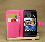 litchi intorno parentesi aperta di cuoio del telefono della carta del raccoglitore adatto per HTC Desire 610 (colori assortiti)