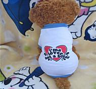 Perros Camiseta / Ropa / Ropa Blanco Verano Corazones