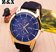 Men's Fashion Big Dial Business Quartz Analog Leather Band Sports Wrist Watch(Assorted Colors) Cool Watch Unique Watch