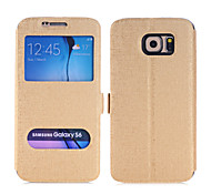 Flip-Open / Window Case For Samsung Galaxy S6 edge (Assorted Colors)