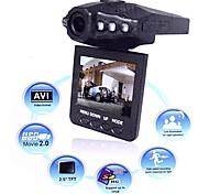"F198B Car Recorder HD DVR 2.5"" Color TFT LCD 120 degree angle w/ 6 IR LED Night vision"