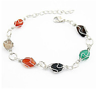 HUALUO®Fashion Colorful Rinestone China&Link Bracelets