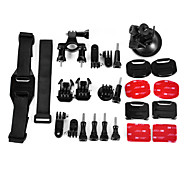 6 in 1 accessori vestito per GoPro hero4 / 3 + / 3/2/1 / sj4000 / sj5000 / sj6000