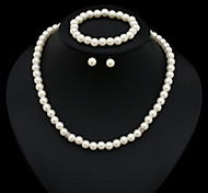 Z&X® Elegant Pearl Jewelry Set Party/Daily 1set(Including Necklaces/Bracelets/Earrings)