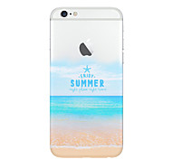 playa de verano patrón del tpu suave con protector de pantalla para el iphone 6