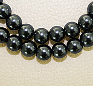 Beadia 2 Str(approx 180pcs) 10mm Round Glass Beads Black Color Imitation Pearl Beads DIY Spacer Loose Beads