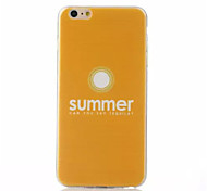 Yellow  Pattern TPU Phone Case For iPhone 6