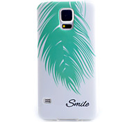 For Samsung Galaxy Case Pattern Case Back Cover Case Feathers TPU Samsung S5