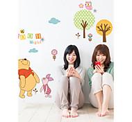 Cartoon Winnie The Pooh Frinds PVC Wall Sticker Wall Decals