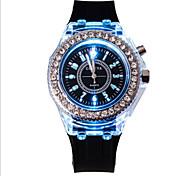Ladies' Round Dial Case Leather Watch Brand Fashion Quartz Watch