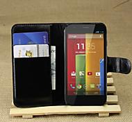 Litschi um offene Bügel Leder Telefon Brieftasche Karte geeignet für Motorola Moto g (Farbe sortiert)
