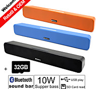 Besteye® 32GB TF Card and G-807P 10W HIFI Sound Bar Speakers FM Aux remote control Stereo Bluetooth Speaks Wireless