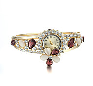 Sjewelry Female Colorful Opal Crystal Watch 24K Gold Plating Bracelet Cool Watches Unique Watches